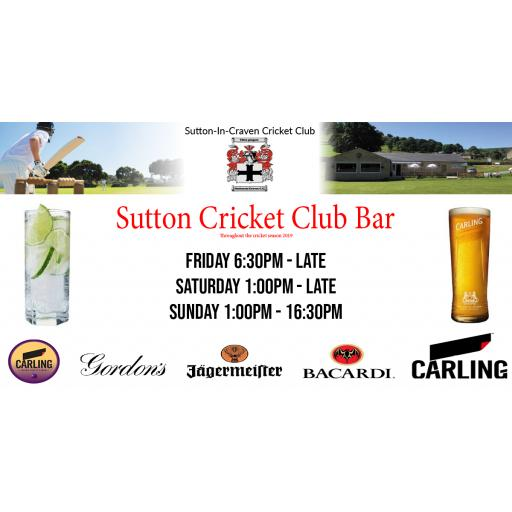 Sutton CC Bar opening times